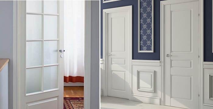 Білі міжкімнатні двері в інтер'єрі квартири
