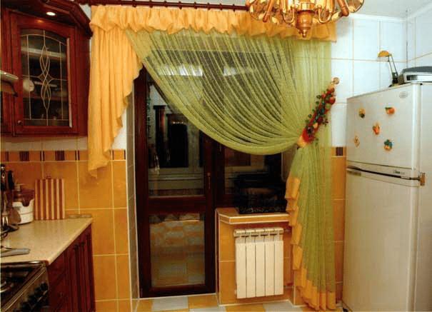 Штори в кухню на вікна та балконні двері